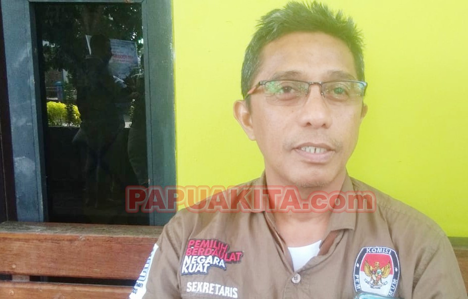 Sekretaris KPU Kabupaten Manokwari, Rustam Efendi